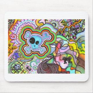 têtes de mort mouse pad