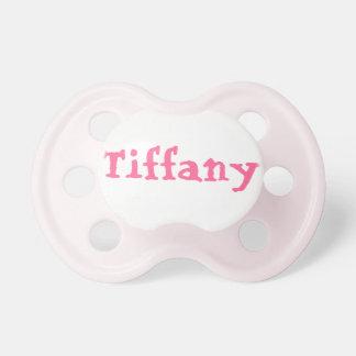 Tétine de bébé avec Tiffany nommé