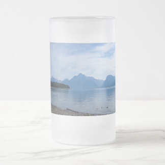 Teton Beauty Frosted Glass Beer Mug