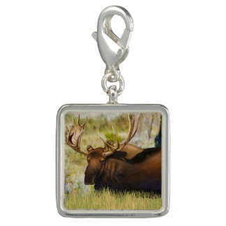 Teton King Moose Bull Charm