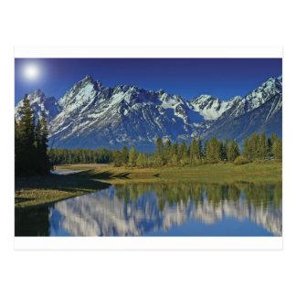 Teton Mountain Lake Template Postcard