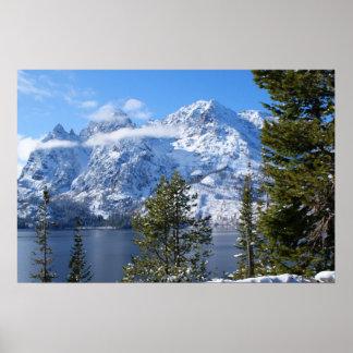 Teton Mountain Range Poster