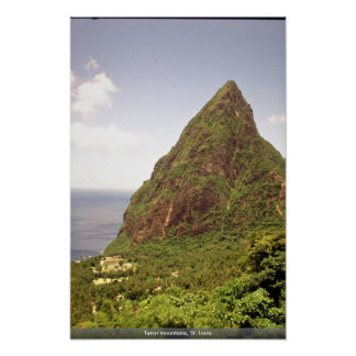 Teton mountains, St. Lucia Poster