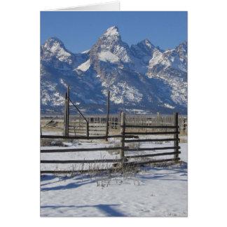 Teton Ranch Winter Card