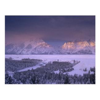 Teton Range from Snake River Overlook, Grand Postcard