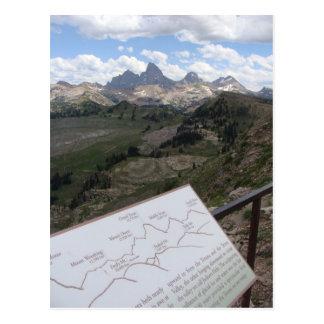 Teton Range Postcard