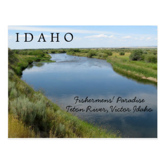 Teton River, Idaho, Fishermen's Paradise PC Postcard