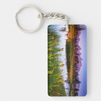 Teton Sunrise Double-Sided Rectangular Acrylic Keychain