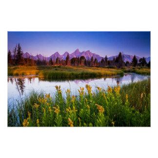 Teton Sunrise Perfect Poster