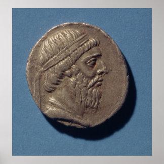 Tetracrachm de Mithradates I Affiche