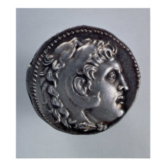 Tetradrachma depicting Alexander the Great Poster