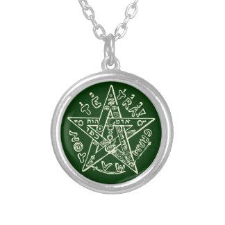 Tetragrammaton Silver Plated Necklace