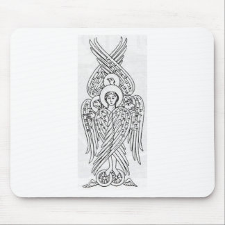 Tetramorph, Black and White Mouse Pad