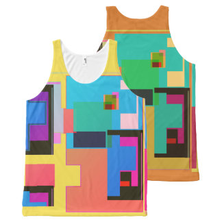 Tetris Type Shapes All-Over-Print Tank Top