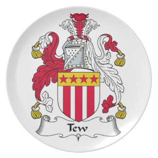 Tew Family Crest Party Plates