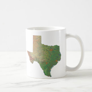 Texan Flag + Map Mug