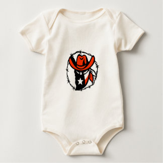 Texan Outlaw Texas Flag Barb Wire Icon Baby Bodysuit