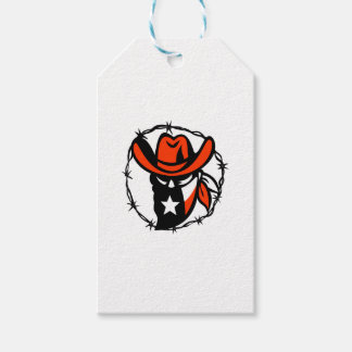 Texan Outlaw Texas Flag Barb Wire Icon Gift Tags