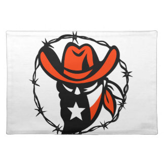 Texan Outlaw Texas Flag Barb Wire Icon Placemat