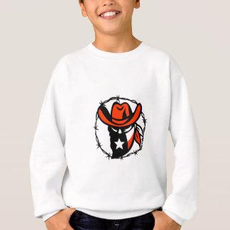 Texan Outlaw Texas Flag Barb Wire Icon Sweatshirt