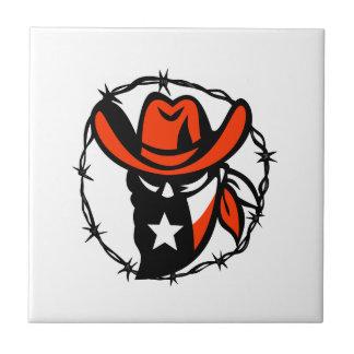 Texan Outlaw Texas Flag Barb Wire Icon Tile
