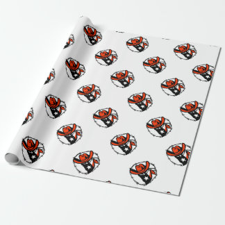 Texan Outlaw Texas Flag Barb Wire Icon Wrapping Paper