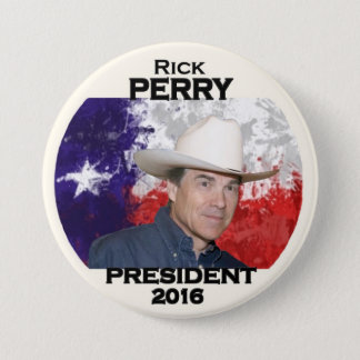 Texan Rick Perry for President 2016 3 Inch Round Button