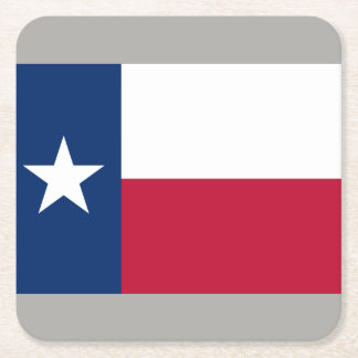 Texan state flag of Texas paper drink coasters