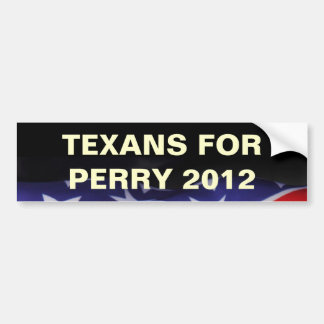 TEXANS for PERRY 2012 Campaign Bumper Sticker