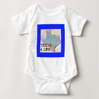 """Texas 4 Life"" State Map Pride Design Baby Bodysuit"
