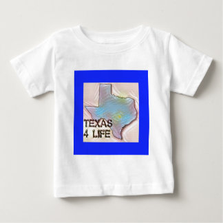 """Texas 4 Life"" State Map Pride Design Baby T-Shirt"