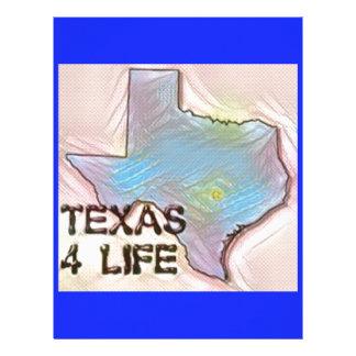 """Texas 4 Life"" State Map Pride Design Customized Letterhead"