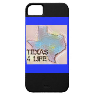 """Texas 4 Life"" State Map Pride Design iPhone 5 Cases"