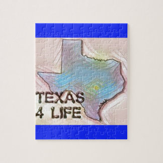 """""""Texas 4 Life"""" State Map Pride Design Jigsaw Puzzle"""