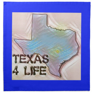 """Texas 4 Life"" State Map Pride Design Napkin"