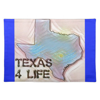 """Texas 4 Life"" State Map Pride Design Placemat"
