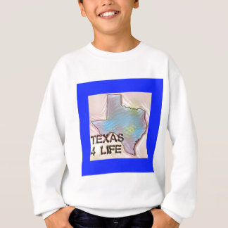 """Texas 4 Life"" State Map Pride Design Sweatshirt"