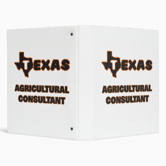 Texas Agricultural Consultant Vinyl Binder