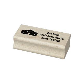 Texas Alamo Custom Address Rubber Art Stamp
