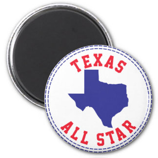 Texas All Star 2 Inch Round Magnet