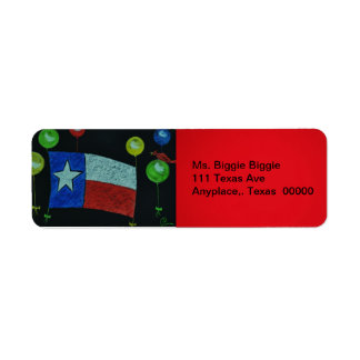 Texas and Balloons Return Address Label