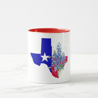 Texas and Bluebonnets Mug