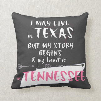 Texas and Tennessee Throw Pillow