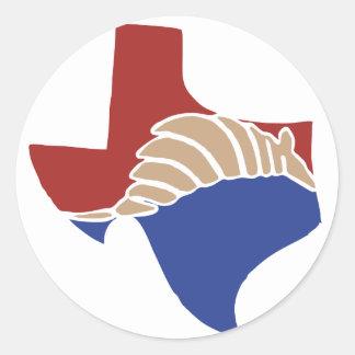 Texas Armadillo - TX State Design Round Sticker