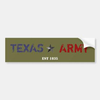TEXAS ARMY BUMPER STICKER