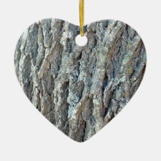 Texas Ash Tree Ceramic Heart Ornament