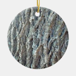 Texas Ash Tree Round Ceramic Ornament