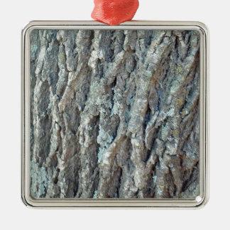 Texas Ash Tree Silver-Colored Square Ornament