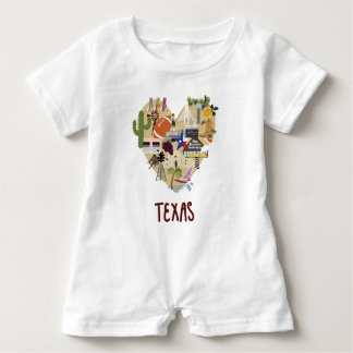 Texas Baby Romper for Baby Shower