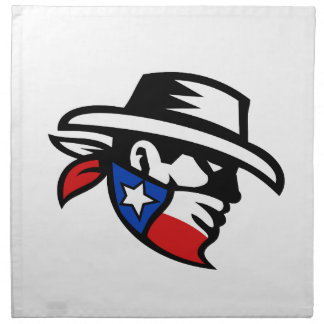 Texas Bandit Cowboy Side Retro Napkin
